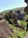 härlig klostermeteora Grekland Arkivbild