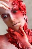 Härlig konstnärlig makeup Royaltyfri Bild
