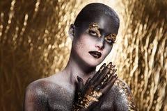 Härlig konstnärlig makeup Royaltyfri Foto