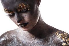 Härlig konstnärlig makeup Royaltyfria Foton