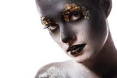 Härlig konstnärlig makeup Fotografering för Bildbyråer