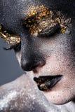 Härlig konstnärlig makeup Arkivbild