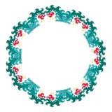 Härlig krans Elegant blom- dragen ramhand Planlägg för inbjudan-, bröllop- eller hälsningkort Royaltyfri Fotografi