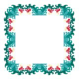 Härlig krans Elegant blom- dragen ramhand Planlägg för inbjudan-, bröllop- eller hälsningkort royaltyfri bild
