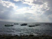 Härlig kust av Bali, Indonesien royaltyfri bild