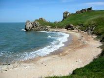 Härlig kust av det Azov havet Arkivfoto