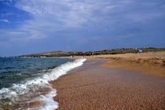 Härlig kust av det Azov havet Royaltyfri Bild