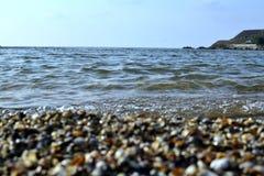 Härlig kust av det Azov havet Royaltyfri Fotografi
