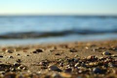 Härlig kust av det Azov havet Arkivbilder