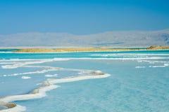 Härlig kust av det döda havet Arkivbild