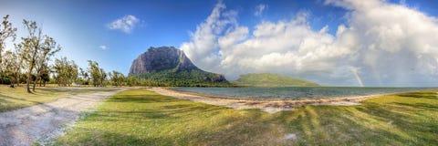 Härlig kust av södra Mauritius Royaltyfri Bild