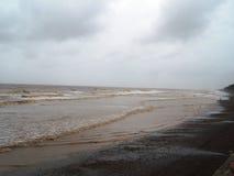 Härlig kust på den Tithal stranden, Valsad, Gujrat Arkivfoto