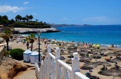 Härlig kust- sikt av stranden för El Duque i Costa Adeje, Tenerife, kanariefågelöar, Spanien fotografering för bildbyråer
