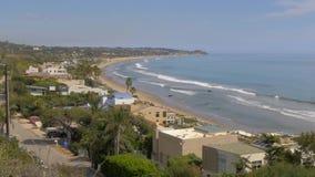 Härlig kustlinje av Malibu längs PCHEN stock video