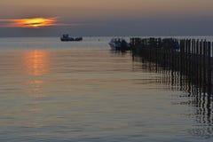 Härlig kustlinje av Weihai royaltyfri bild
