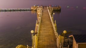 Härlig kustlinje av Weihai royaltyfri foto