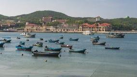 Härlig kustlinje av Weihai arkivbilder