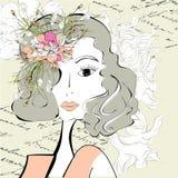 härlig kvinna Arkivbild