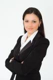 härlig kvinna för affärsdräkt Arkivbilder