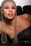 härlig kvinna för afrikansk amerikan Royaltyfri Foto