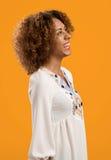 härlig kvinna för afrikansk amerikan Arkivfoton