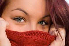 härlig kvinna för blåa ögon royaltyfri bild