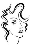 härlig kvinna för framsida s royaltyfri illustrationer