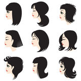 härlig kvinna för hår s Arkivbild