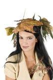 härlig kvinna för höst Royaltyfria Foton
