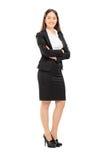 Härlig kvinna i formell kläder Arkivfoton