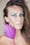 Härlig kvinna med makeup Royaltyfria Bilder