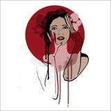 Härlig kvinna. Modeillustration. Royaltyfri Foto