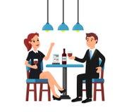 Härlig kvinna och man in stock illustrationer