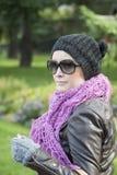 Härlig kvinna utomhus- Ania Royaltyfri Foto