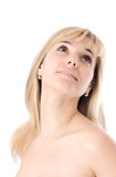 Härlig kvinnaframsida Royaltyfri Foto