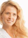 Härlig kvinnaframsida Arkivbild