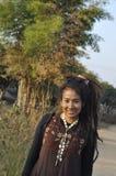 Härlig kvinnahårDreadlock Asien nätt stil Royaltyfri Bild