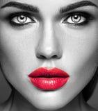 Härlig kvinnamodelldam med ny daglig makeup Royaltyfri Fotografi