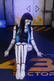 Härlig kvinnarobot Arkivfoto
