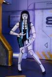 Härlig kvinnarobot Arkivfoton