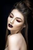 Härlig kvinnastående i asiatisk stil Royaltyfri Fotografi