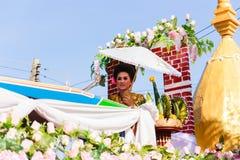 Härlig kvinnaThailand kultur Royaltyfri Fotografi