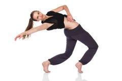 Härlig kvinnlig dansare Arkivfoton