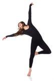 Härlig kvinnlig dansare Arkivbilder