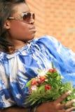 härlig kvinnlig för afrikansk amerikan Arkivfoton