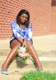 härlig kvinnlig för afrikansk amerikan Royaltyfri Foto