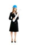 härlig kvinnlig för arkitekt Royaltyfria Foton