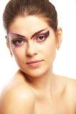 härlig kvinnligmodell Arkivfoton