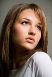 härlig kvinnligmodell Arkivfoto