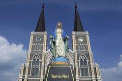Härlig kyrka i Chanthaburi, Thailand Arkivfoto